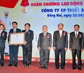 Lễ đón nhận Huân Chương Lao Động Hạng I của Công ty cổ phần Thiết Bị Điện